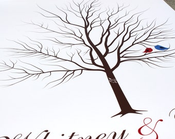 Fingerprint Tree Bridal Gift Guestbook 200-250 Guests Engagement Gifts Wedding Tree Guest Book GUEST SIGN IN Thumbprint Tree 20x30 num. 144