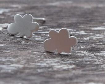 Dainty Cloud Earrings / Silver Cloud Sterling Silver Post Earrings