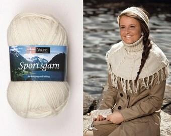 SALE 29% Off  Superwash Wool SPORTSGARN Double Knitting yarn Viking Garn #102 , Norway  / 50g/1.76oz