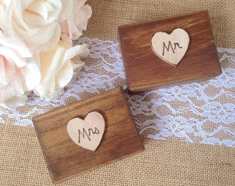 Mr and Mrs Ring Boxes, set of 2