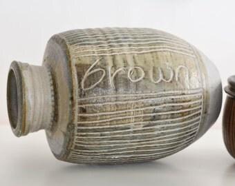 Mid Century Modern Tall Studio Pottery Vessel