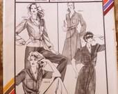 Stretch and Sew 1576 shirtwaist dress, blouse pattern, multi size, Ann Person, lapel collar blouse, lapel collar dress, button front dress,