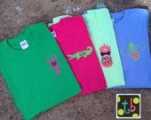 Spring 2015 Monogram Tee Design Personalized Pineapple Bowtie Critter Alligator Lobster Shirt Monograms