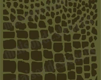 Euro stencil designs  Crocodile print background stencil 12x12 inches