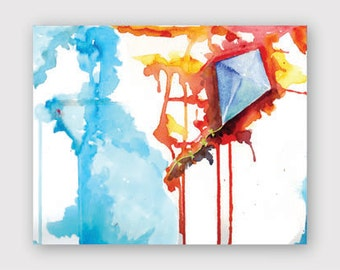 Fly a Kite Watercolor Instant Download