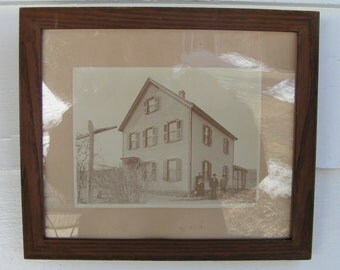 1800s Minimalist Unfinished Mahogany Wood FRAME for REPUROSE Victorian Photo