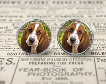 Basset Hound Puppy Earrings