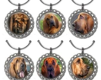 Bloodhound Wine Charms