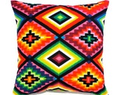 Mexican cushion mexican pillow Aztec cushion aztec pillow multicolor pillow geometric cushion geometric pillow cushion cover ethnic tribal