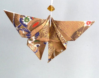 Brown and gold Butterfly pendant
