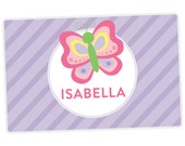 Butterfly Placemat - Personalized Placemat for Kids - Childrens Placemat - Set The Table - Laminated
