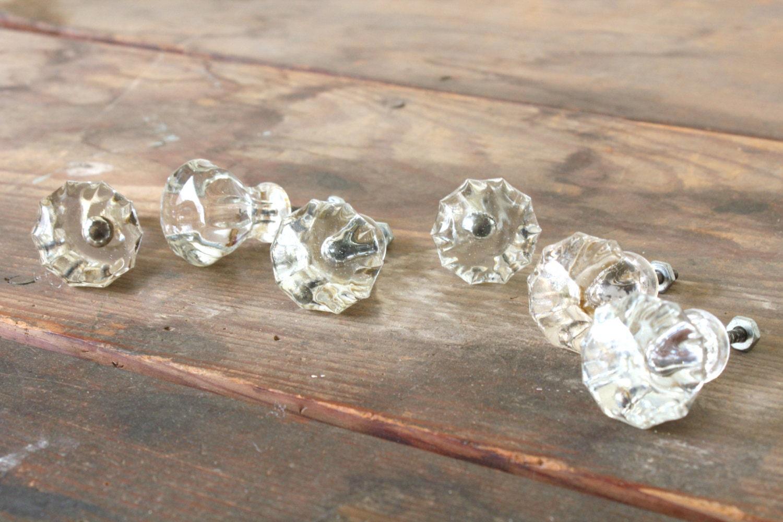 Vintage Glass Drawer Knobs Dresser Pulls By ForgottenPLUM On Etsy