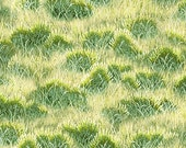 Grass, Unbridled by Wilmington Prints, Green Grass Fabric, Horse Fabric, 10207