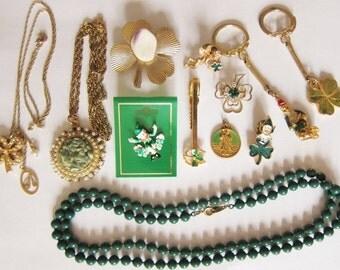 12 Pc  Vintage St Patty's Jewelry Lot