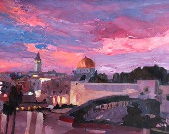 Jerusalem At Sunset - Limited Edition Fine Art Print