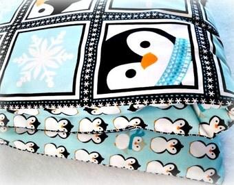Toddler Duvet Cover, Crib Duvet Cover - Made to Order - Design Your Own - Penguins
