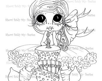 INSTANT DOWNLOAD Digital Digi Stamps Big Eye Big Head Dolls Digi Birthday Bestie By Sherri Baldy