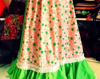 Vintage handmade flamenco dance spanish skirt