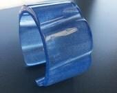 Blue Resin Bangle Cuff