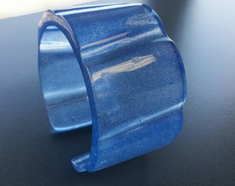 Blue Resin Bangle Cuff