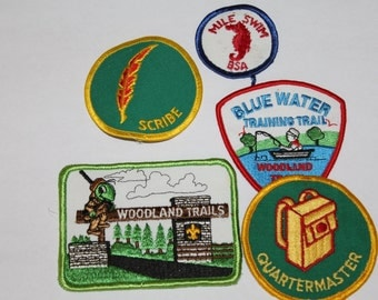 Vintage 1980s Boy Scouts Of America Patches