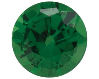 Natural Green Tsavorite Garnet Gemstone Round Size 1 mm, 1.25 mm, 1.5 mm, 1.75 mm, 2 mm, 2.25 mm, 2.5 mm Top Grade