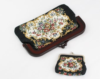 Coin Purse And Tapestry Vintage Clutch Bag
