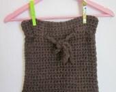 Hand knitting Beautiful brown scarf