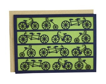 Bicycle Laser Cut Card