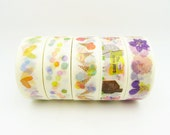 Japanese Washi Tape Set of 5 Rolls - 15mm x 10m Tsutsumu Masking Tape