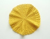 Crochet Cotton Washcloth , Crochet  Cotton  Dishcloth, Crochet Doily