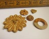 50% OFF Destash Sale 5  handmade rustic beads  pendant or charms