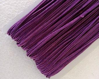 5.5 yards dark purple Soutache Braid, Passementerie Braid, embroidery, Soutache cord, Passementerie cord Trim, gimp cord, russian braid