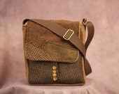 Recycled Wool Tweed Suit Messenger Bag with adjustable strap for men or women. Great to carry a tablet