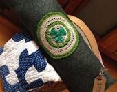 St. Patrick's Day Prim Pillow Tuck~ vintage handmade doily~ green shamrock~Primitive Pillow Tuck~ prim decor
