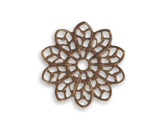 Vintaj 20.5mm Filigree Flower (2)