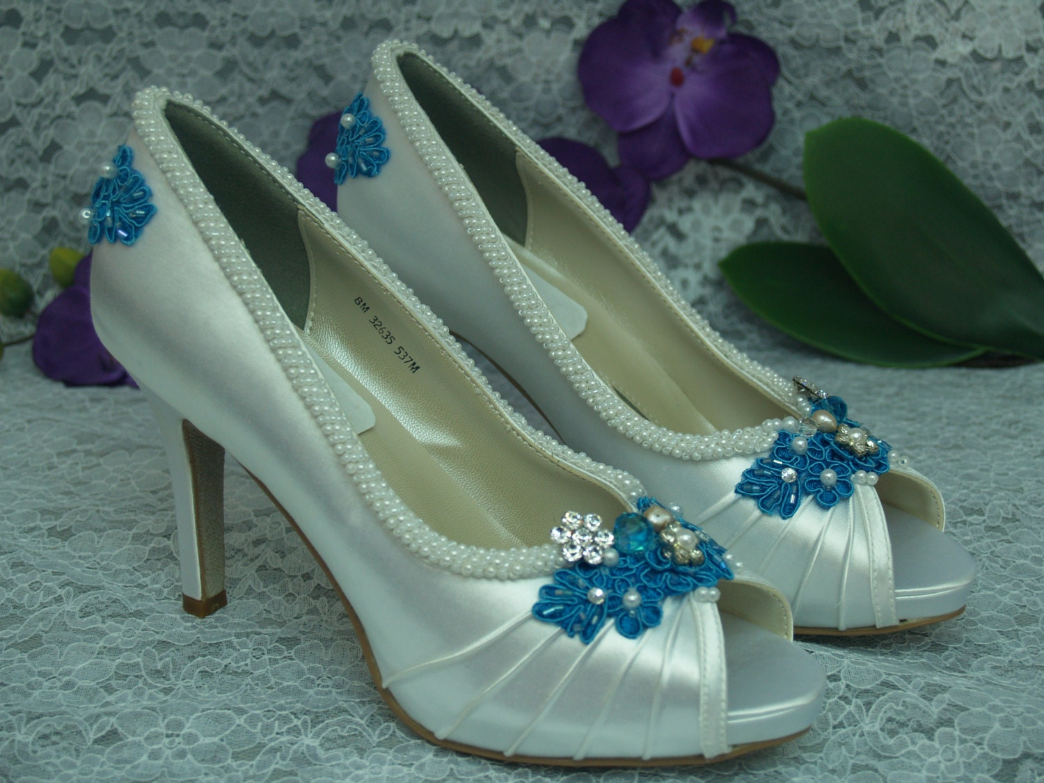 Wedding Shoes Turquoise Blue High Heels Brides Something