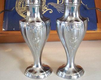 Silver Salt, Pepper Shakers, Vintage, Ornate