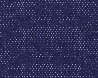 Dress Me Playground - Navy Hearts - Dear Stella Fabrics - Stella-WG301 - 1/2 Yard
