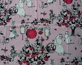 Pink Moomin fabric 100 x 145 cm