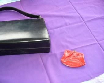 1950's black handbag