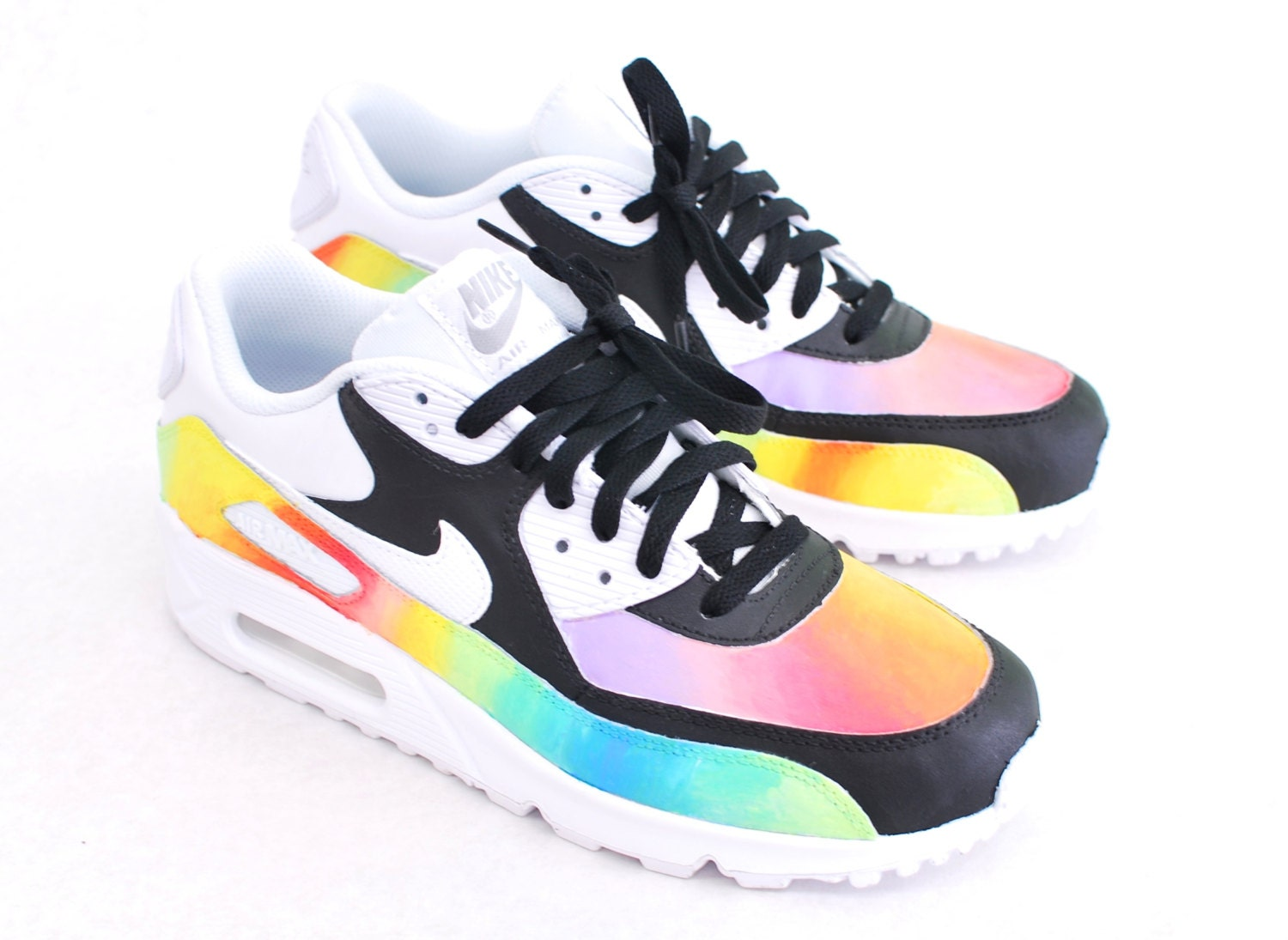 Custom HandPainted Color Blast Nike Air Max 90 Running Shoe