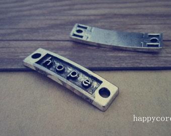 10pcs Antique silver hope Pendant charm 10mmx35mm