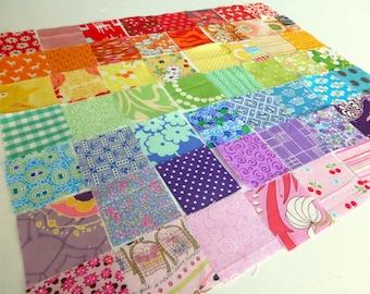 "Mini Rainbow Charm Pack: 56 x 2.5"" squares"