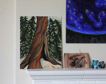 Majestic Redwood- Original painting