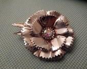 Vintage Silver Brooch - Flower Brooch - Women's Brooch - Costume Brooch - Silvertone Broach