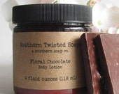 Floral Chocolate Lotion - Hand Blended Scent