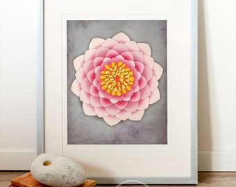 Printable Art (INSTANT DOWNLOAD) Yoga art, yoga studio decor, meditation wall art, meditation decor, mindfulness, lotus wall art, peaceful.