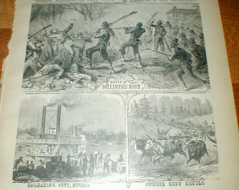 The Negro In The War *Various Employments* Antique Civil War Book Page