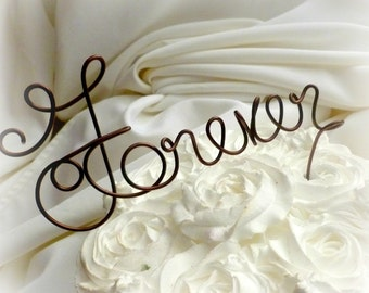 Forever Wedding Cake Topper